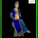 لباس قجری زنانه مخمل df